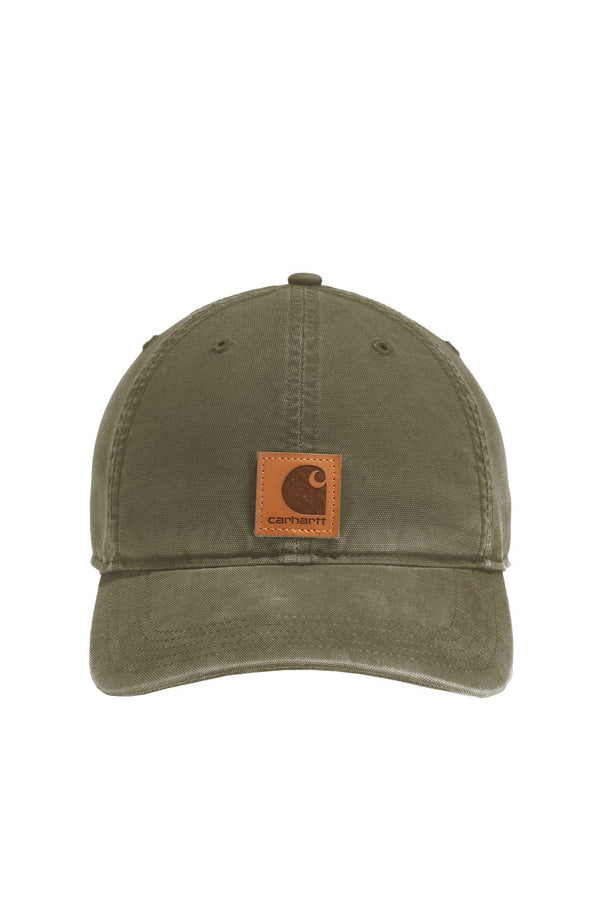 Dark Olive Green Carhartt Men's Odessa FastDry Moisture Wicking Adjustable Hat