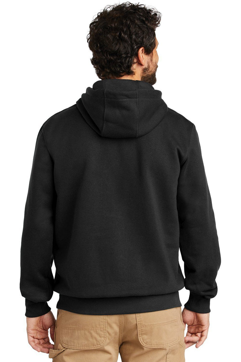 Black Carhartt Men's Paxton Rain Defender Water Resistant Hooded Sweatshirt
