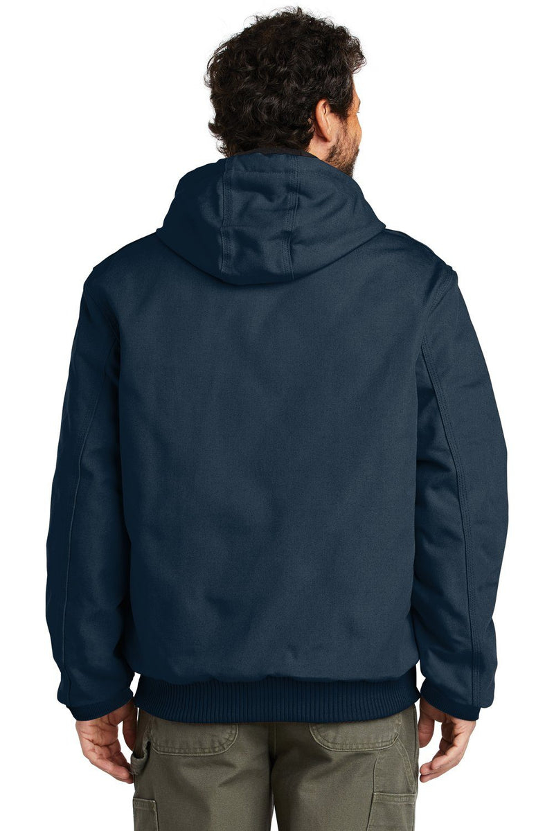Dark Slate Gray Carhartt Men's Wind & Water Resistant Duck Cloth Full Zip Hooded Work Jacket