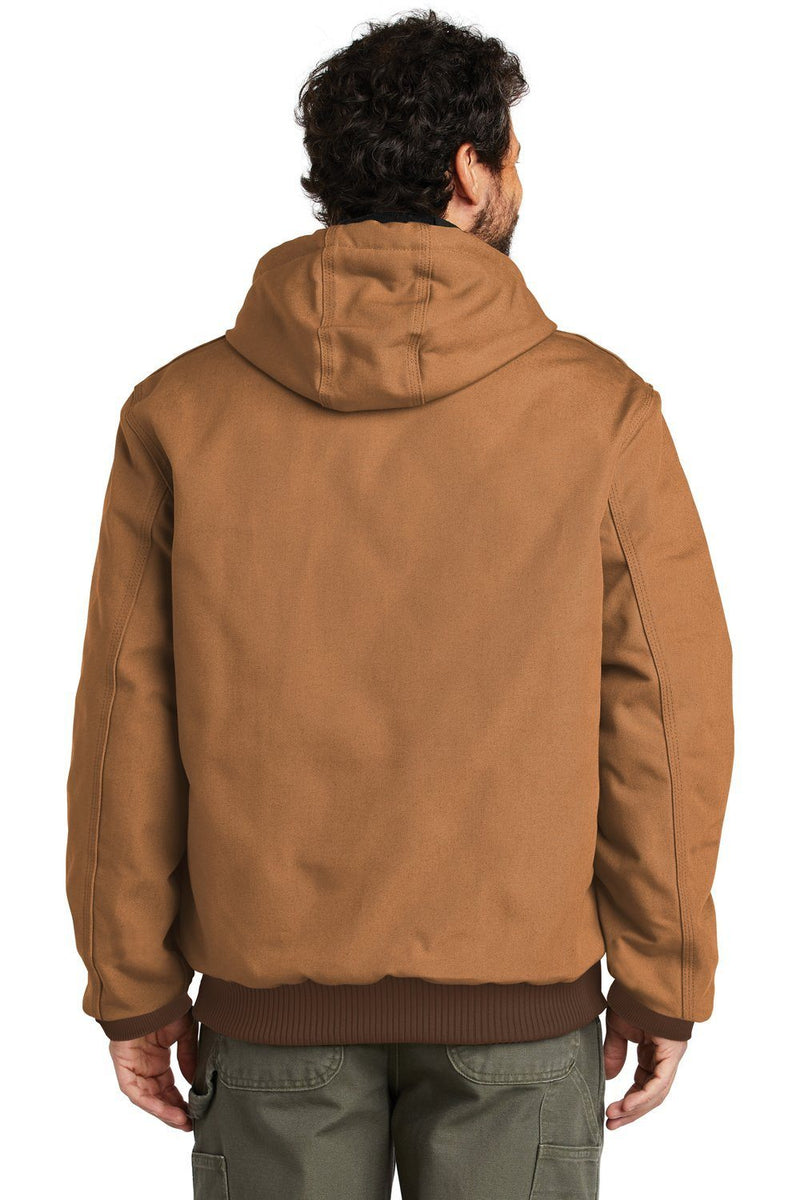 Snow Carhartt Men's Wind & Water Resistant Duck Cloth Full Zip Hooded Work Jacket