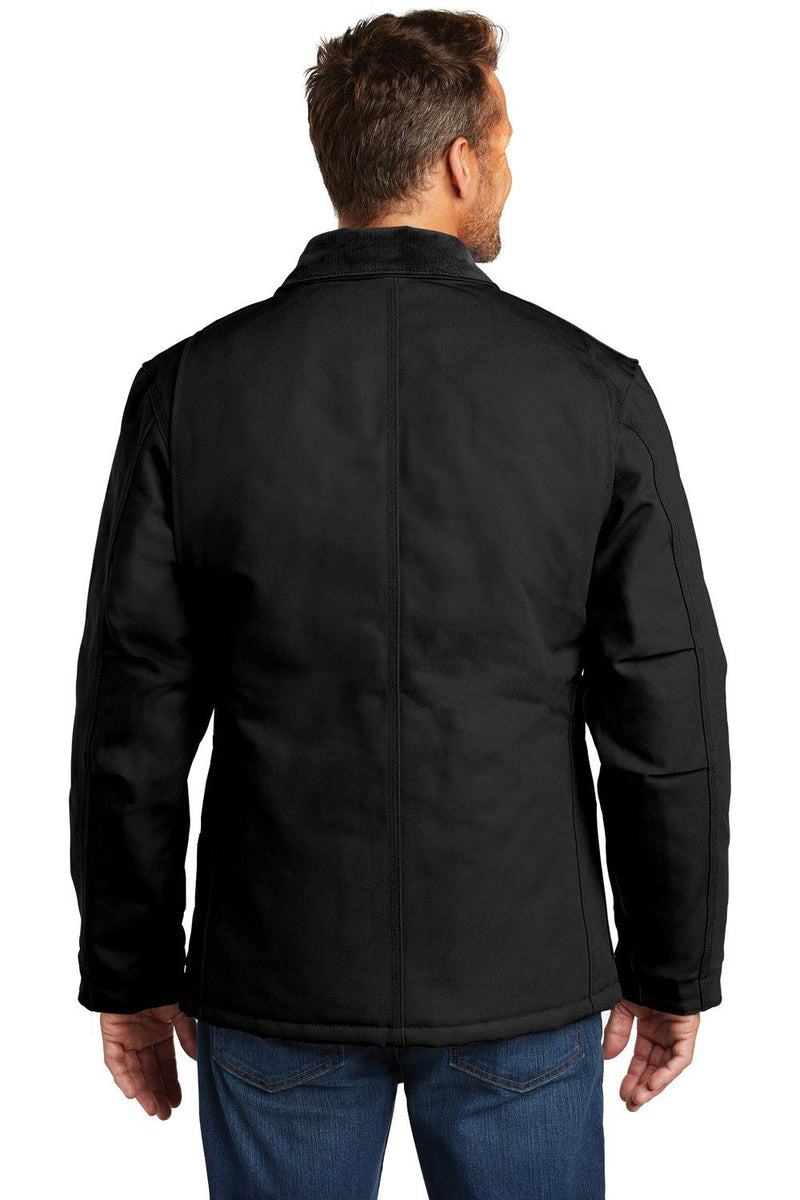 Black Carhartt Men's Wind & Water Resistant Duck Cloth Full Zip Jacket