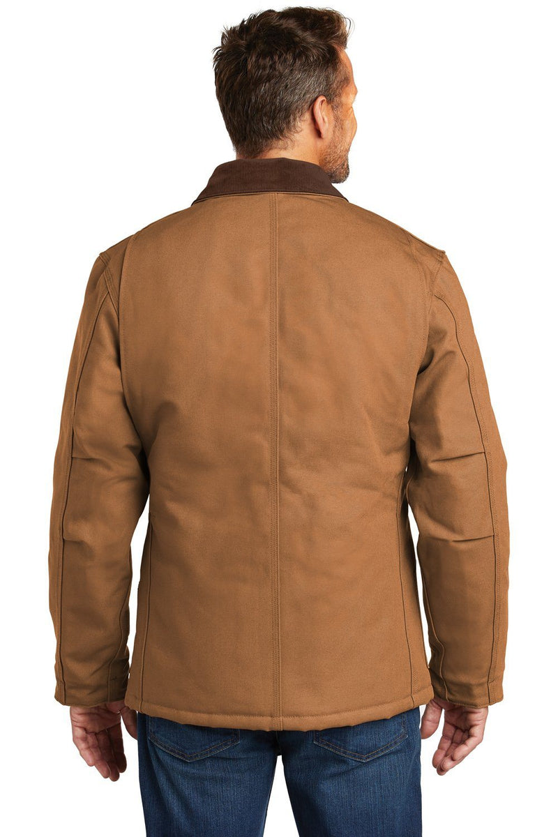 Carhartt Mens Wind & Water Resistant Duck Cloth Full Zip Jacket Mens Casual Jackets Carhartt
