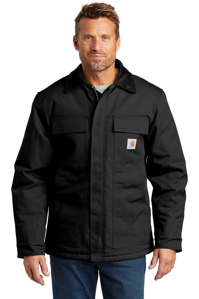 Carhartt Mens Wind & Water Resistant Duck Cloth Full Zip Jacket Mens Casual Jackets Carhartt S Black