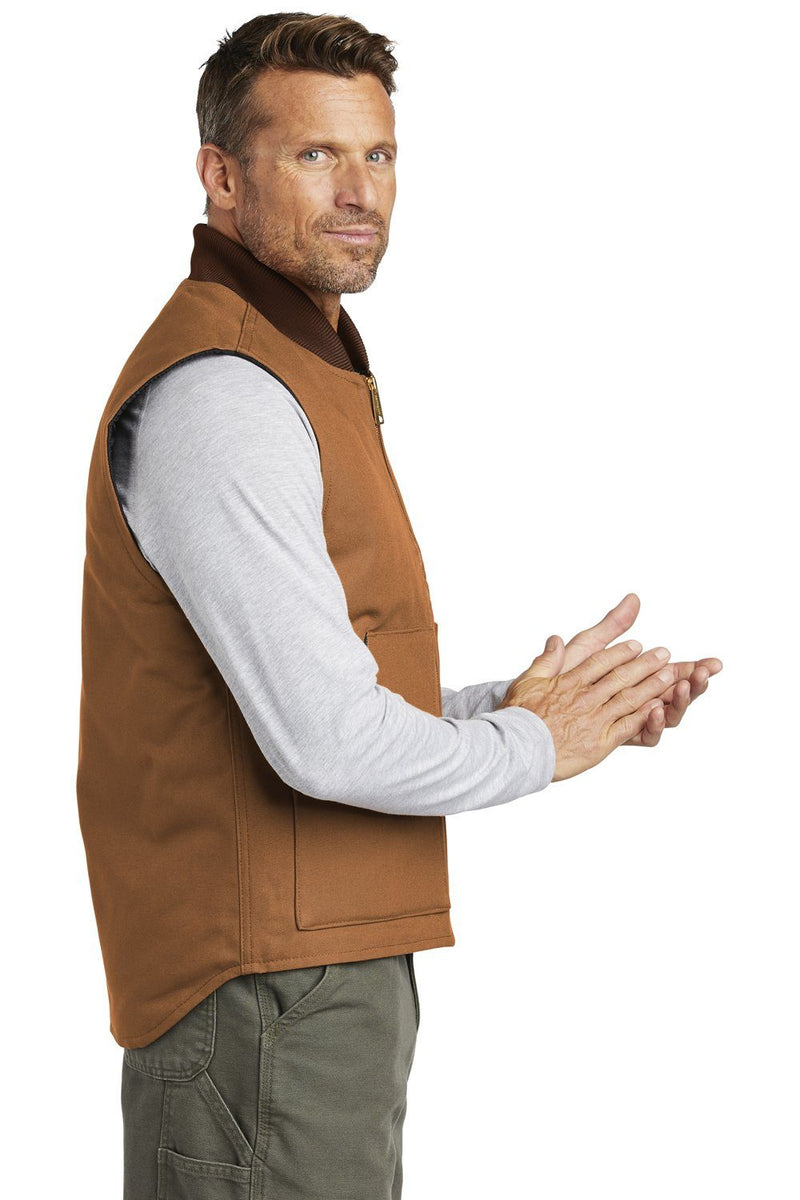 Carhartt Mens Wind & Water Resistant Duck Cloth Full Zip Vest Mens Vests Carhartt