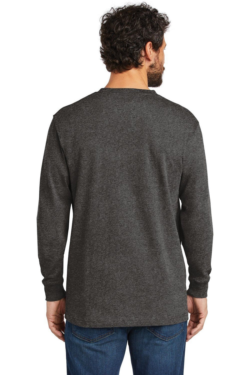 Dark Slate Gray Carhartt Men's Workwear Long Sleeve Crewneck T-Shirt w/ Pocket