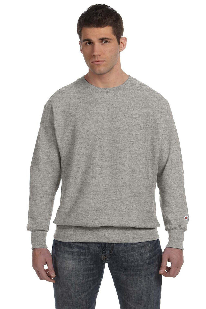 White Champion Men's Crewneck Sweatshirt