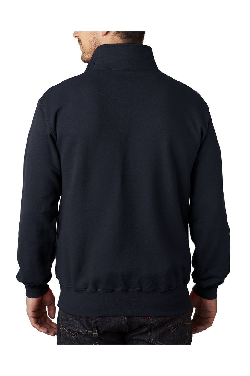 Black Champion Men's Double Dry Eco Moisture Wicking Fleece 1/4 Zip Sweatshirt