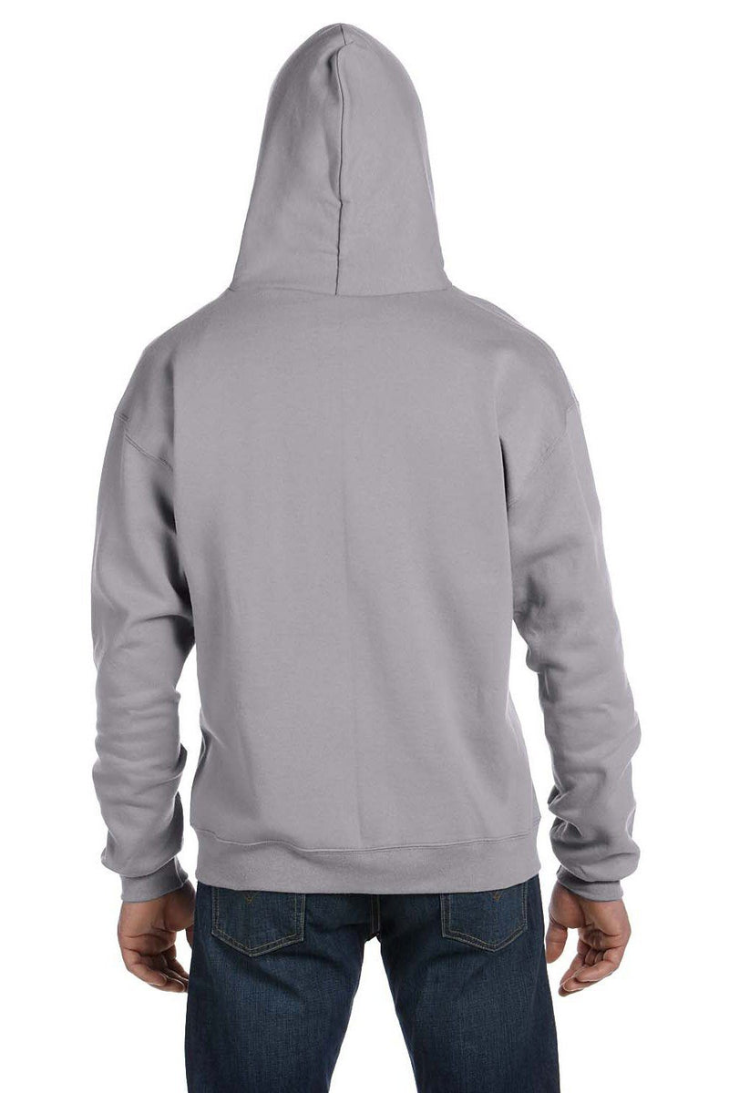 Dark Gray Champion Men's Double Dry Eco Moisture Wicking Fleece Full Zip Hooded Sweatshirt