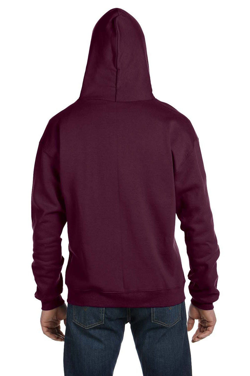 Dark Slate Gray Champion Men's Double Dry Eco Moisture Wicking Fleece Full Zip Hooded Sweatshirt