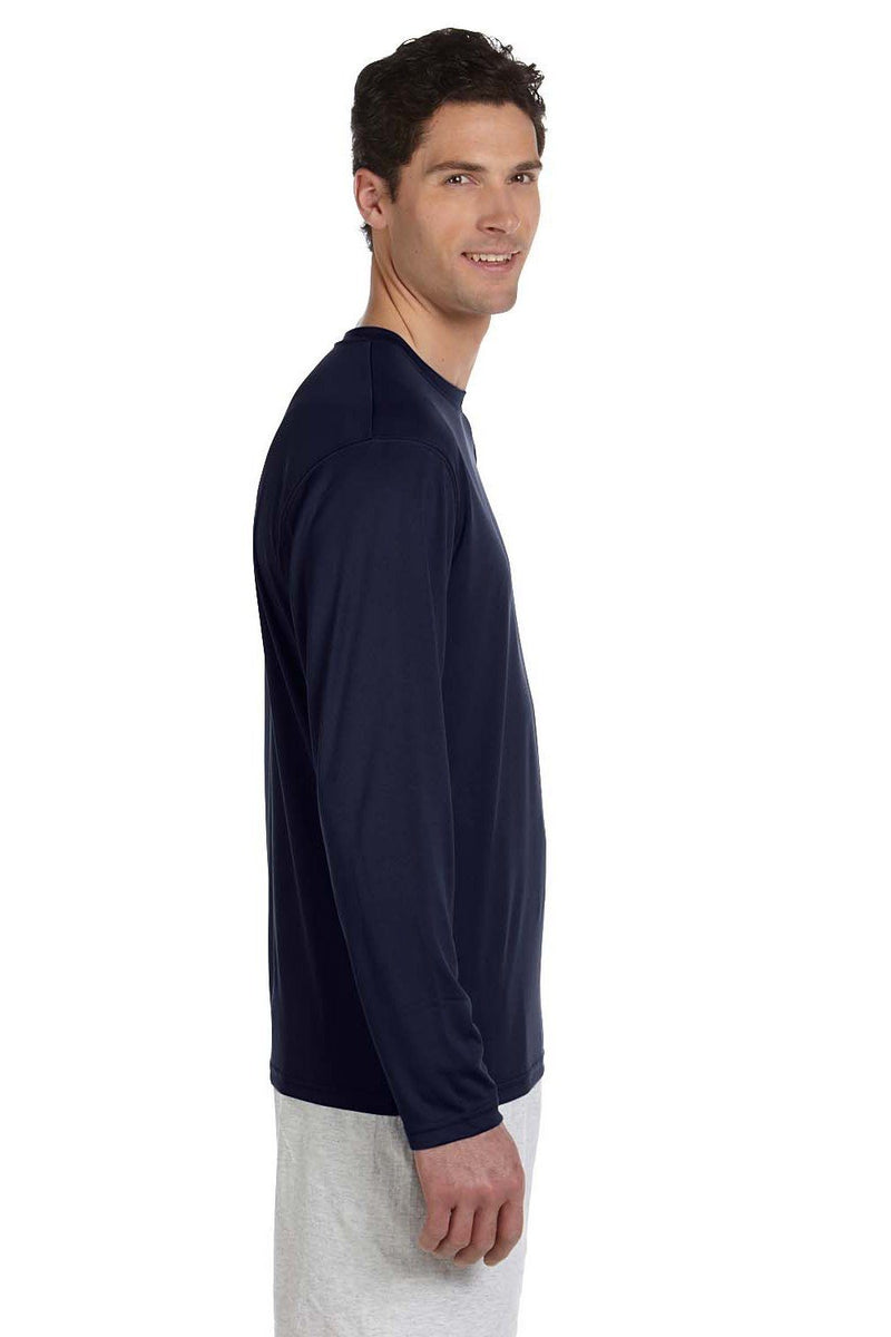 Champion Mens Double Dry Moisture Wicking Long Sleeve Crewneck T-Shirt Mens T-Shirts Champion