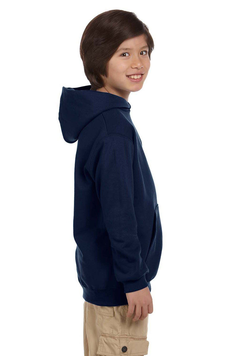Black Champion Youth Double Dry Eco Moisture Wicking Fleece Hooded Sweatshirt