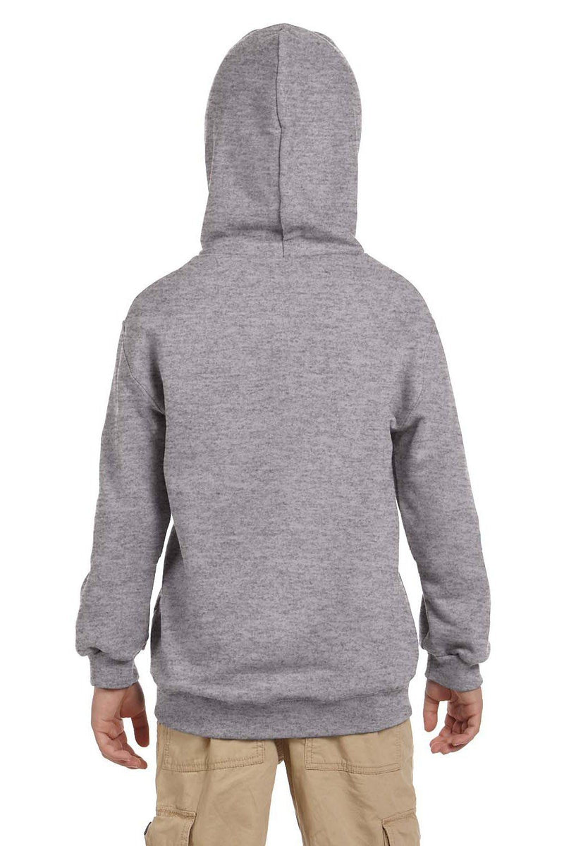 Dark Gray Champion Youth Double Dry Eco Moisture Wicking Fleece Hooded Sweatshirt