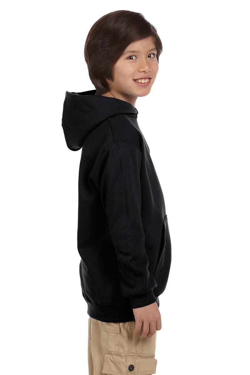 White Champion Youth Double Dry Eco Moisture Wicking Fleece Hooded Sweatshirt
