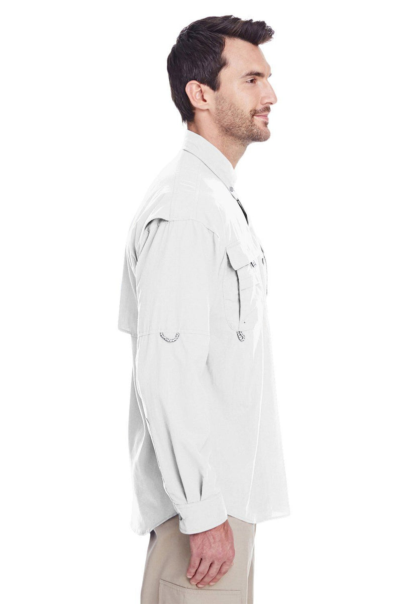 Snow Columbia Men's Bahama II Moisture Wicking Long Sleeve Button Down Shirt w/ Double Pockets