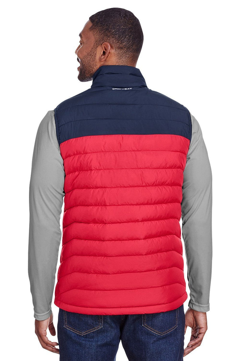 Tomato Columbia Men's Powder Lite Full Zip Vest