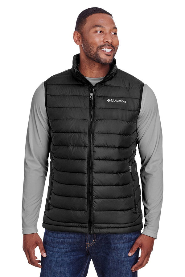 Columbia Mens Powder Lite Full Zip Vest Mens Vests Columbia S Black