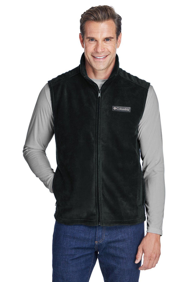 Columbia Mens Steens Mountain Full Zip Fleece Vest Mens Vests Columbia S Black