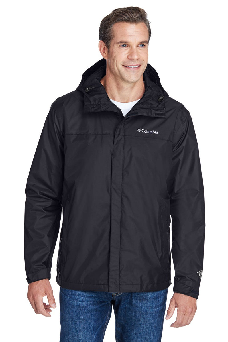 Columbia Mens Watertight II Waterproof Full Zip Hooded Jacket Mens Casual Jackets Columbia S Black