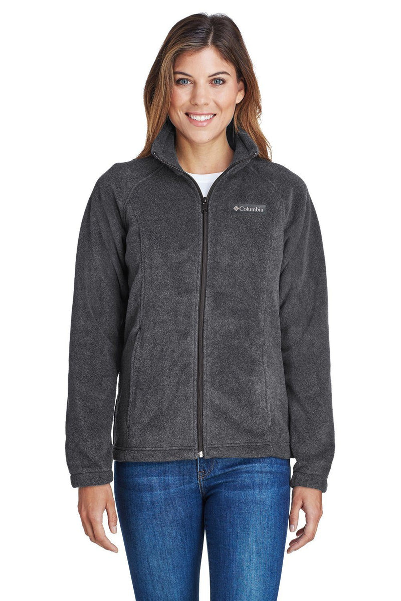 Columbia Womens Benton Springs Full Zip Fleece Jacket Womens Fleece Jackets Columbia XS Charcoal Grey