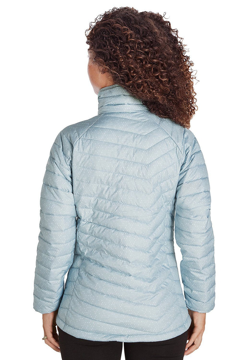 Light Steel Blue Columbia Women's Powder Lite Full Zip Jacket