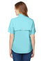 Sky Blue Columbia Women's Tamiami II Moisture Wicking Short Sleeve Button Down Shirt w/ Double Pockets