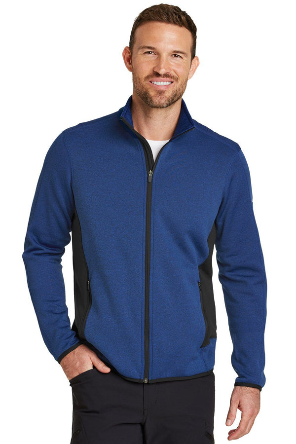 Dark Slate Blue Eddie Bauer Men's Full Zip Fleece Jacket