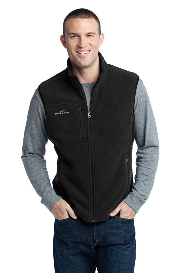 Eddie Bauer Mens Full Zip Fleece Vest Mens Vests Eddie Bauer XS Black