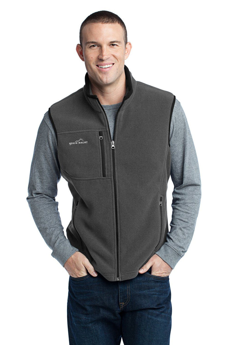 Eddie Bauer Mens Full Zip Fleece Vest Mens Vests Eddie Bauer XS Grey Steel