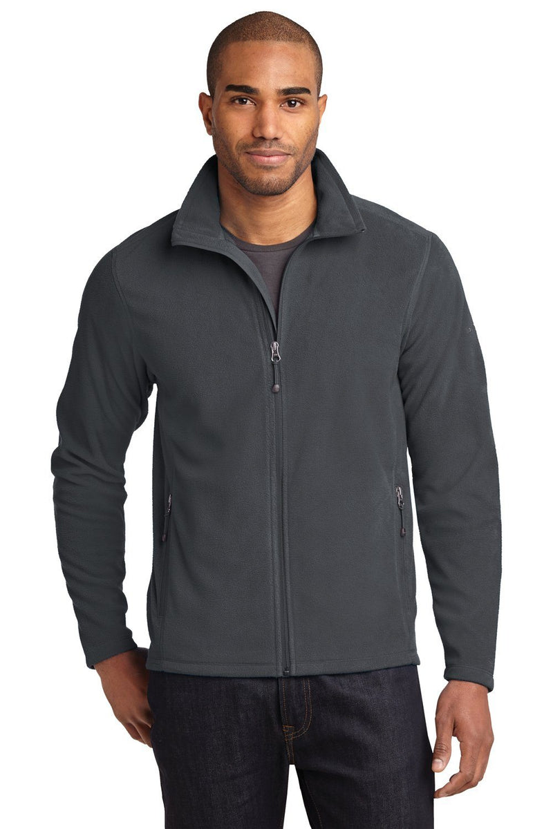 Eddie Bauer Mens Full Zip Microfleece Jacket Mens Fleece Jackets Eddie Bauer XS Grey Steel