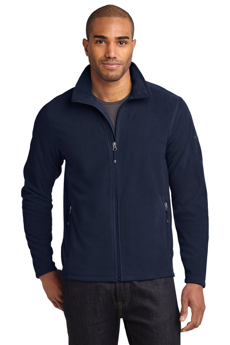 Eddie Bauer Mens Full Zip Microfleece Jacket Mens Fleece Jackets Eddie Bauer XS Navy Blue