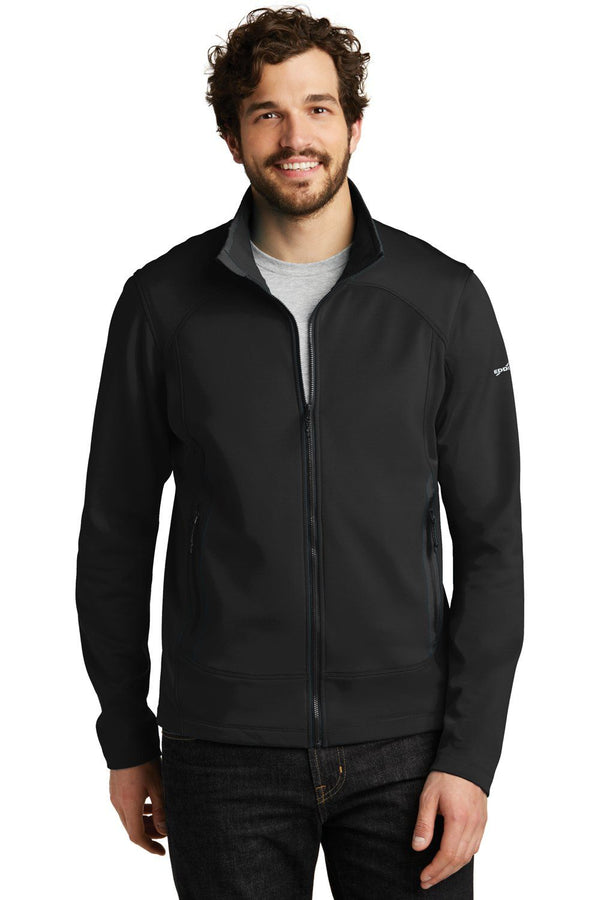 White Eddie Bauer Men's Highpoint Full Zip Fleece Jacket