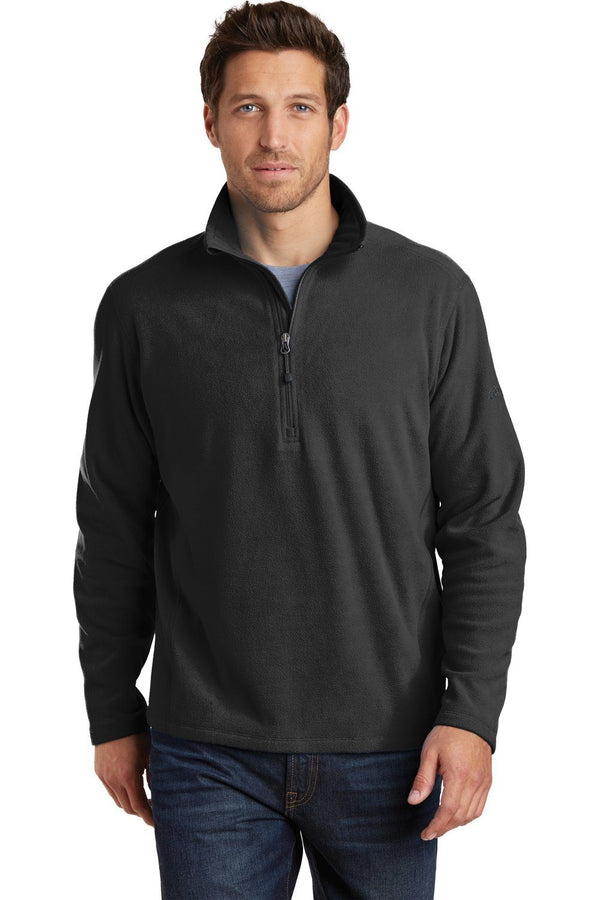 White Eddie Bauer Men's Microfleece 1/4 Zip Sweatshirt