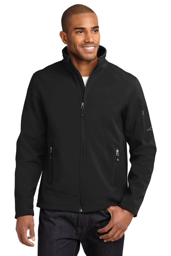 White Eddie Bauer Men's Rugged Water Resistant Full Zip Jacket