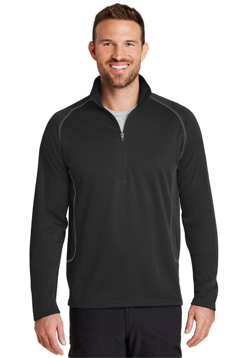 White Eddie Bauer Men's Smooth Fleece 1/4 Zip Sweatshirt