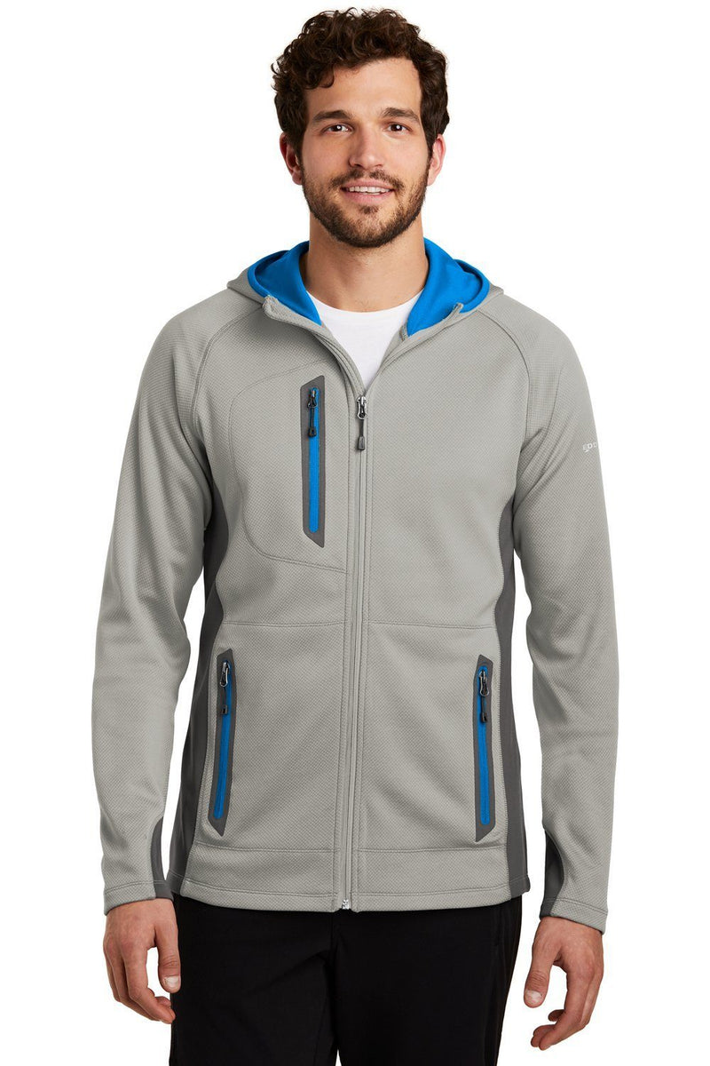 Eddie Bauer Mens Sport Full Zip Fleece Hooded Jacket Mens Fleece Jackets Eddie Bauer XS Cloud Grey