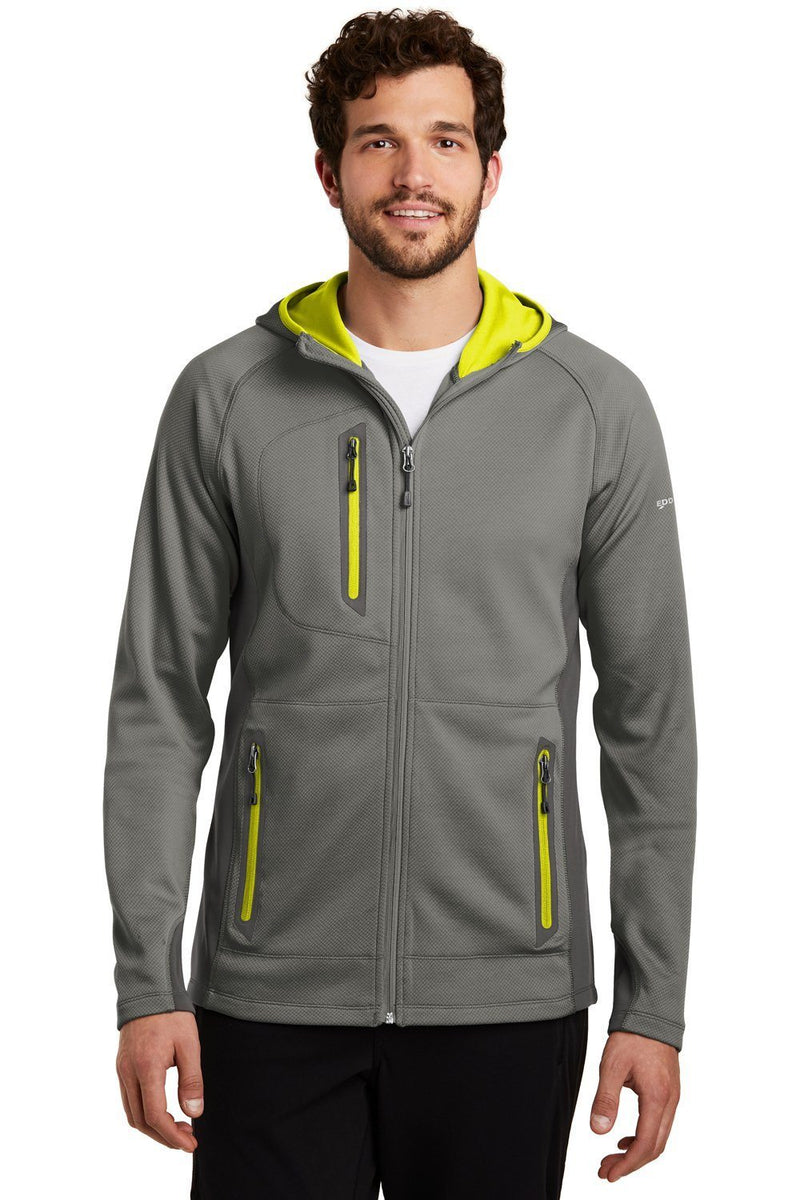 Eddie Bauer Mens Sport Full Zip Fleece Hooded Jacket Mens Fleece Jackets Eddie Bauer XS Metal Grey