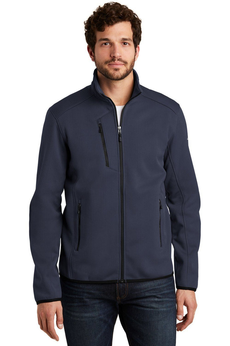 Eddie Bauer Mens Trail Water Resistant Full Zip Jacket Mens Casual Jackets Eddie Bauer XS River Blue/Black