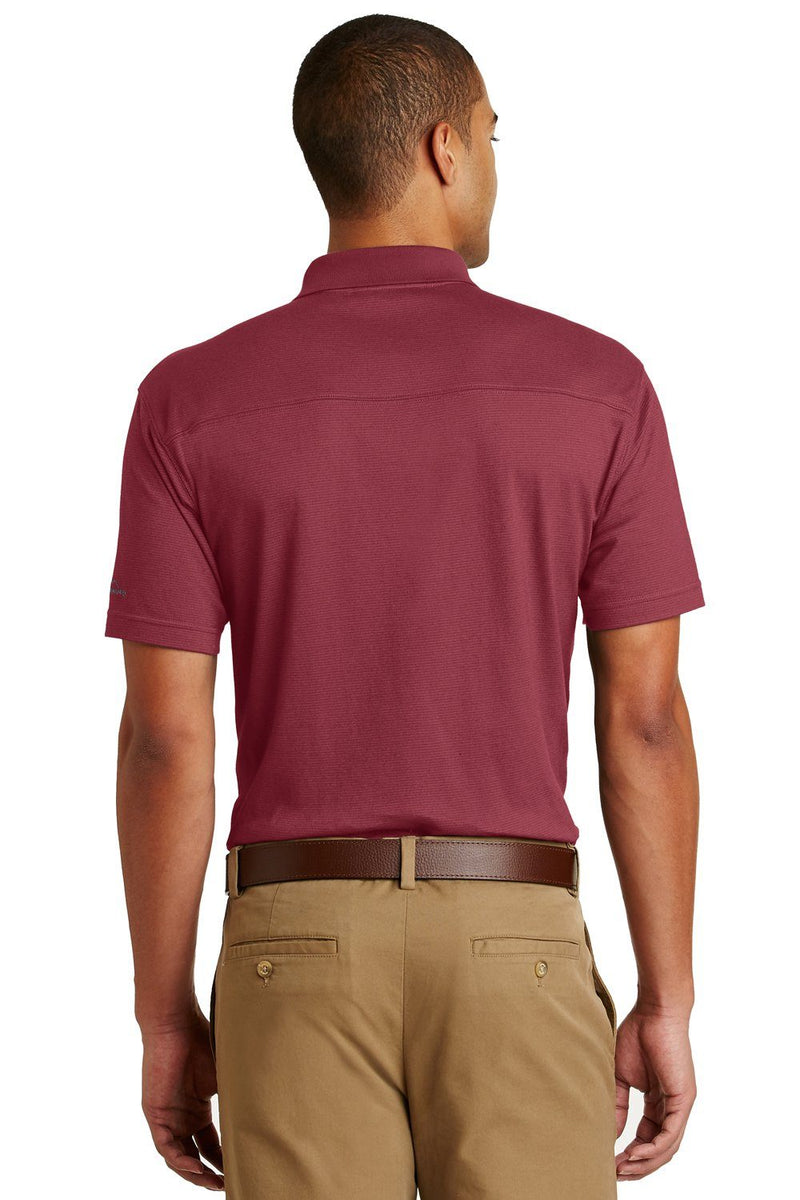 Brown Eddie Bauer Men's UPF 30+ Performance Short Sleeve Polo Shirt