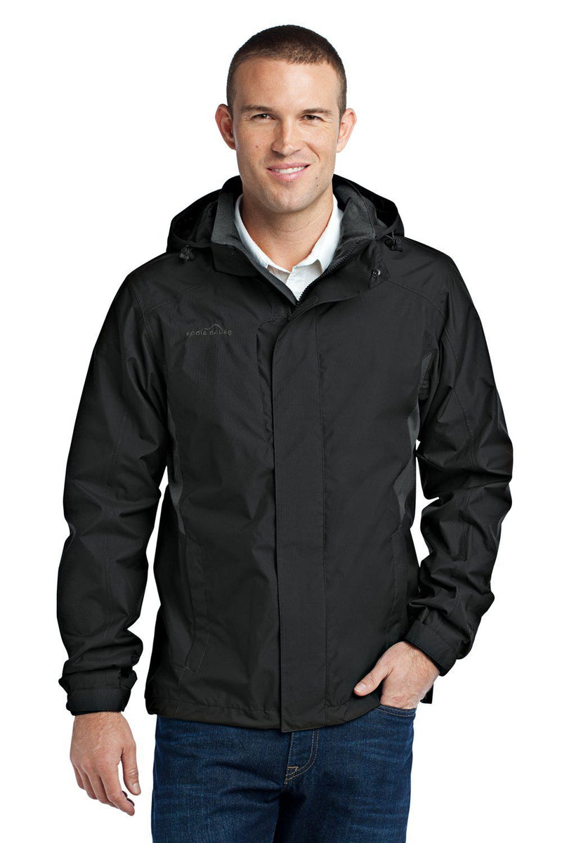 Eddie Bauer Mens Waterproof Full Zip Hooded Jacket Mens Casual Jackets Eddie Bauer XS Black