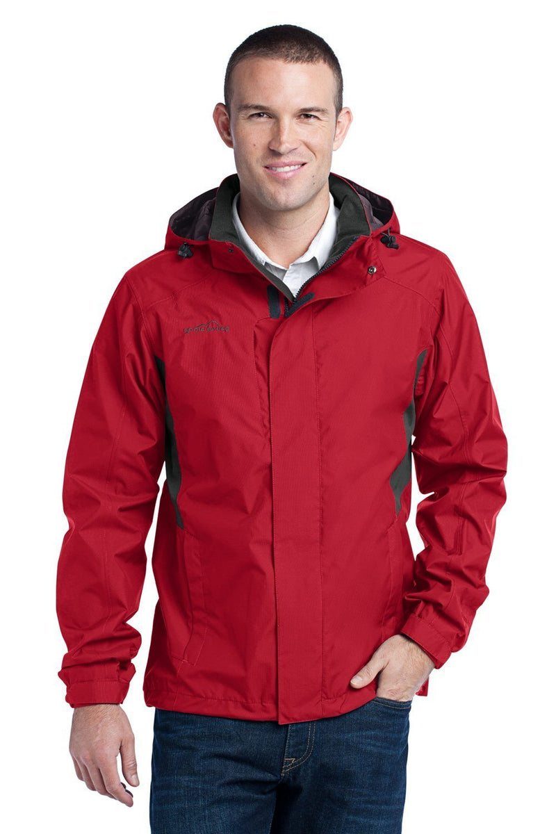 Eddie Bauer Mens Waterproof Full Zip Hooded Jacket Mens Casual Jackets Eddie Bauer XS Red
