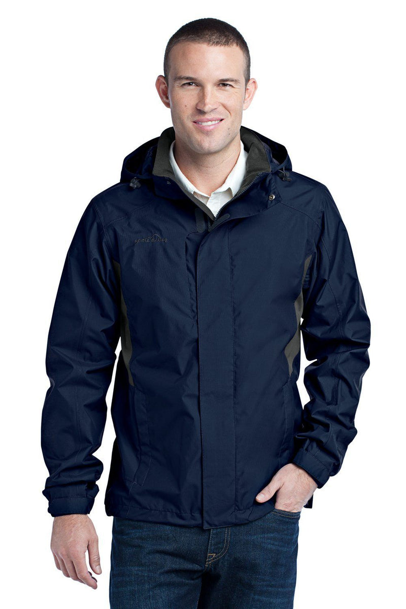 Eddie Bauer Mens Waterproof Full Zip Hooded Jacket Mens Casual Jackets Eddie Bauer XS River Blue