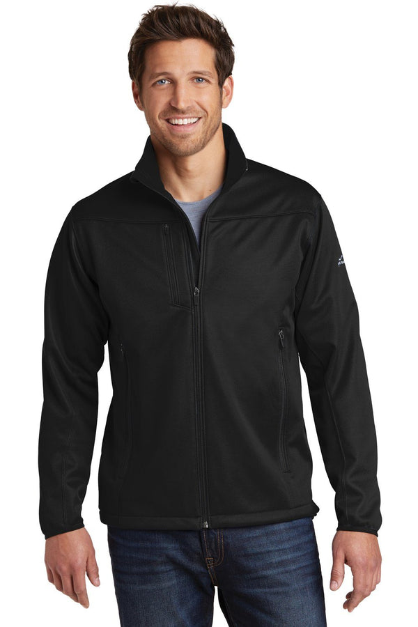 White Eddie Bauer Men's Waterproof Full Zip Jacket