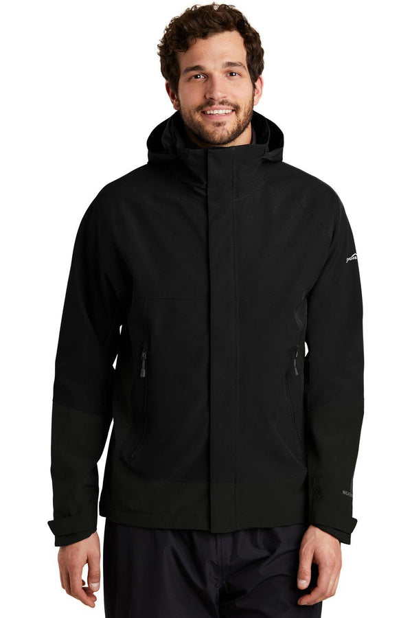 Black Eddie Bauer Men's WeatherEdge Waterproof Full Zip Hooded Jacket