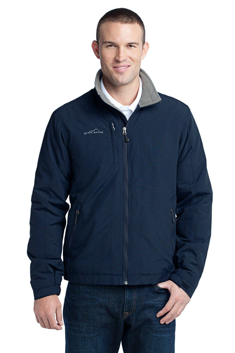 Dark Slate Gray Eddie Bauer Men's Wind & Water Resistant Full Zip Jacket