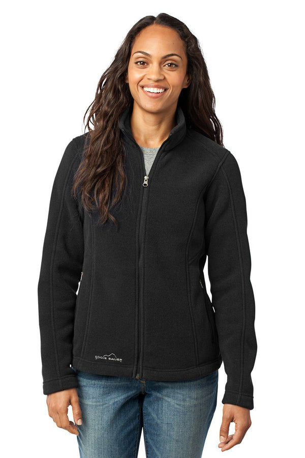 White Eddie Bauer Women's Full Zip Fleece Jacket