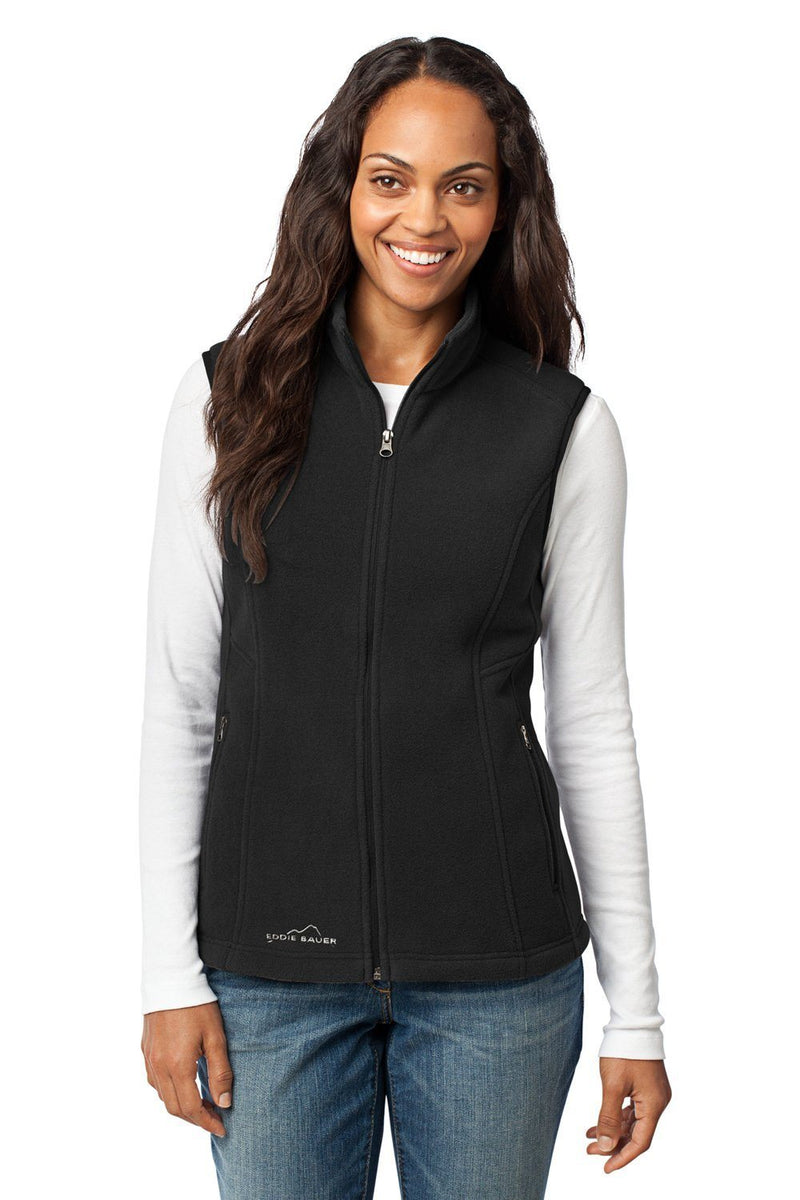 Eddie Bauer Womens Full Zip Fleece Vest Womens Vests Eddie Bauer XS Black