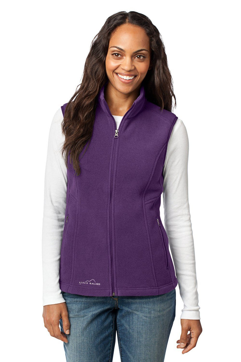 Eddie Bauer Womens Full Zip Fleece Vest Womens Vests Eddie Bauer XS Blackberry Purple