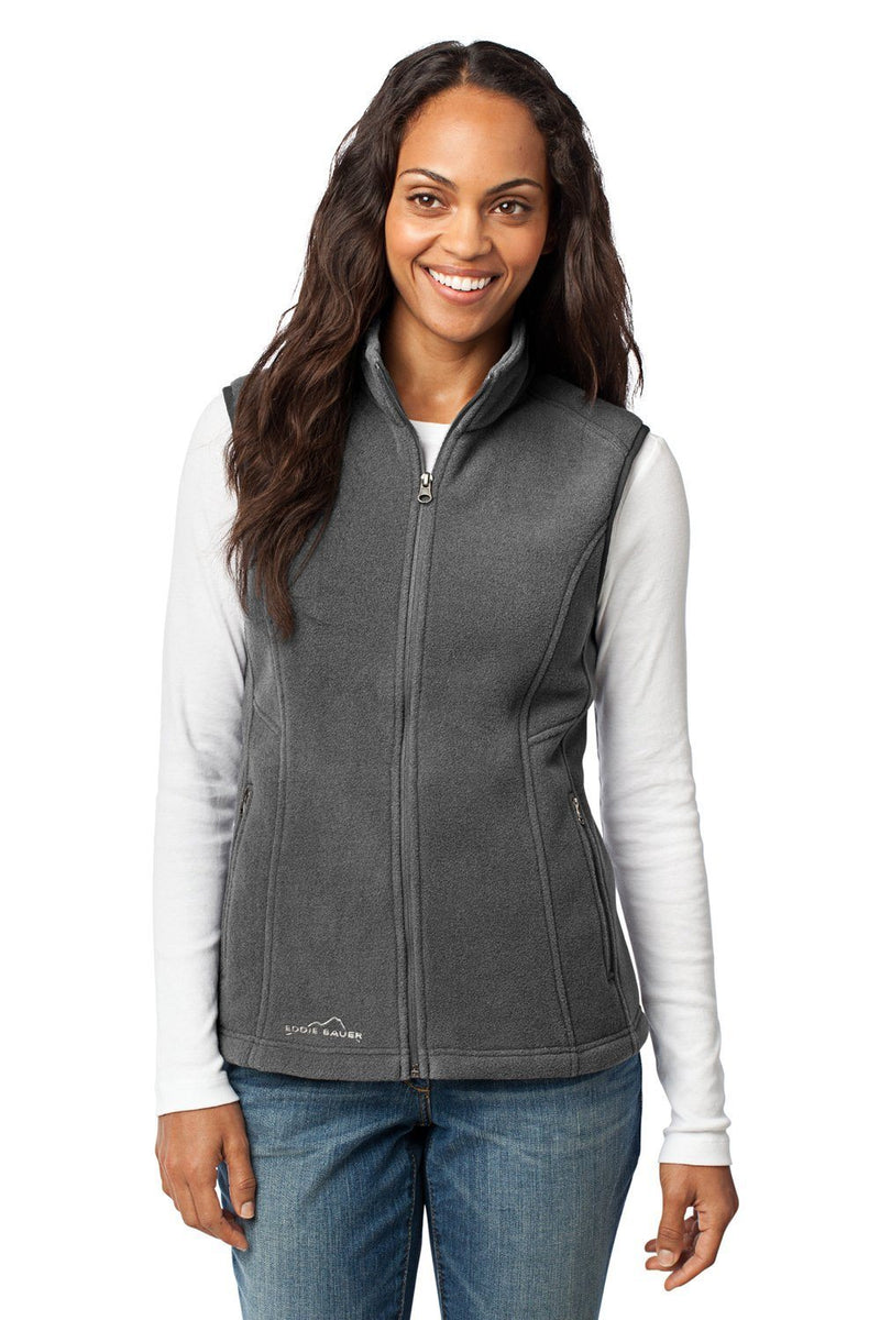 Eddie Bauer Womens Full Zip Fleece Vest Womens Vests Eddie Bauer XS Grey Steel