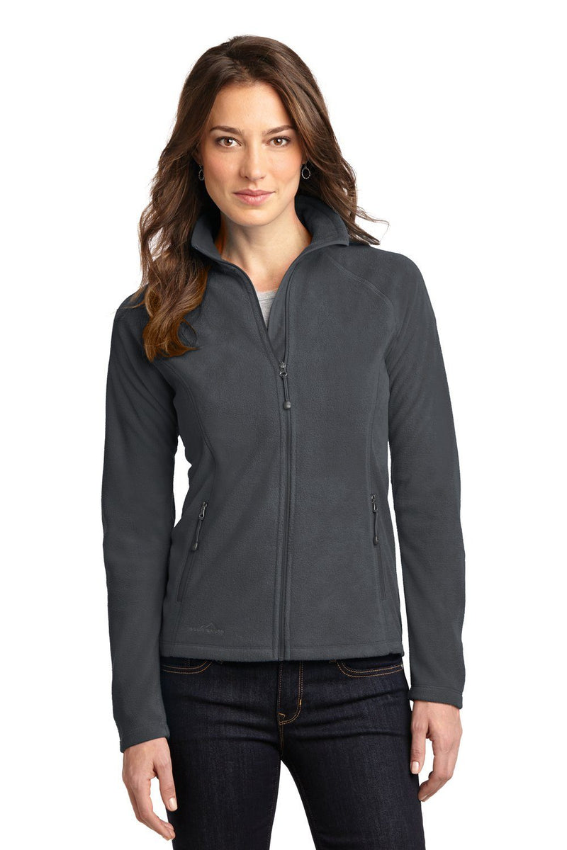 Eddie Bauer Womens Full Zip Microfleece Jacket Womens Fleece Jackets Eddie Bauer XS Grey Steel