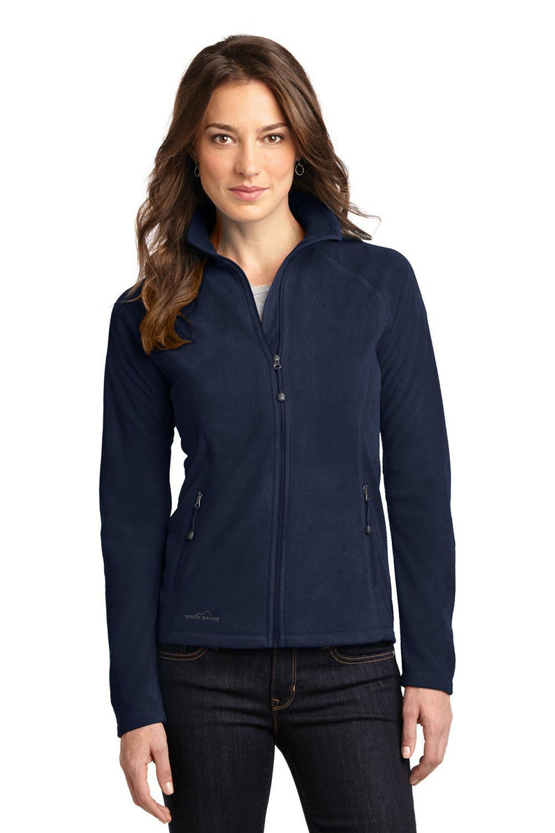 Eddie Bauer Womens Full Zip Microfleece Jacket Womens Fleece Jackets Eddie Bauer XS Navy Blue